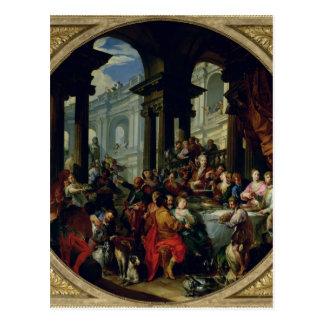 Feast under an Ionic Portico, c.1720-25 Postcard
