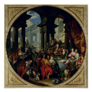 Feast under an Ionic Portico, c.1720-25 Poster