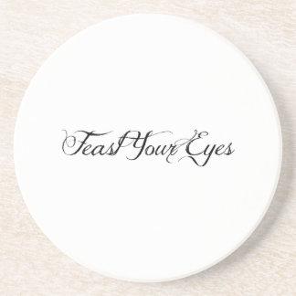 Feast Your Eyes Sandstone Coaster