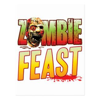 Feast Zombie Head Postcard