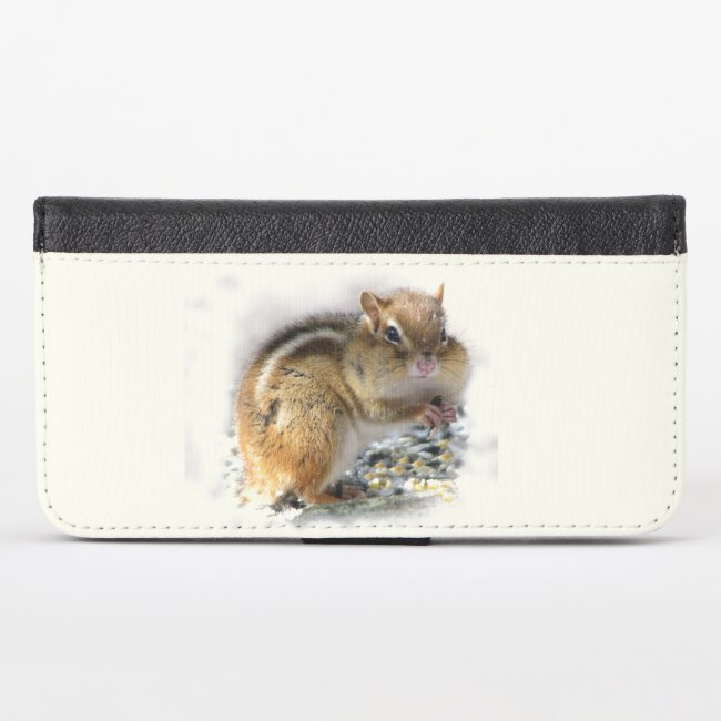 Feasting Chipmunk Animal iPhone X Wallet Case
