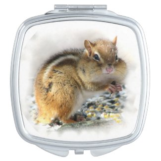 Feasting Chipmunk Compact Mirror