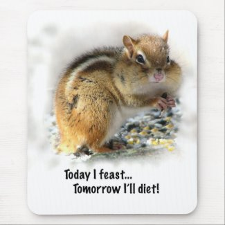 Feasting Chipmunk mousepad