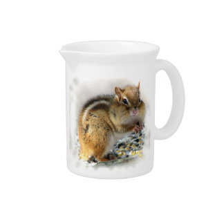 Feasting Chipmunk Drink Pitchers