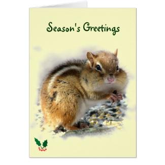 Feasting Chipmunk Season's Greetings