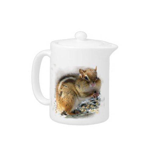 Feasting Chipmunk Teapot
