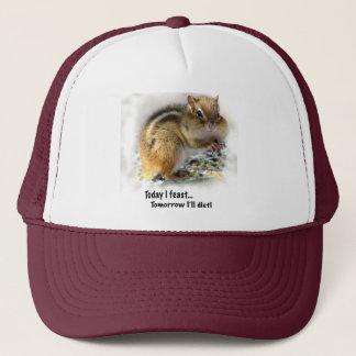Feasting Chipmunk Trucker Hat