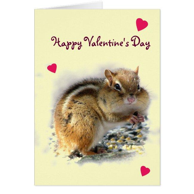 Feasting Chipmunk Valentine