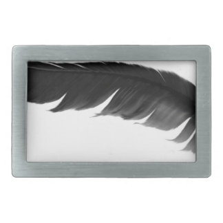 feather1 rectangular belt buckles