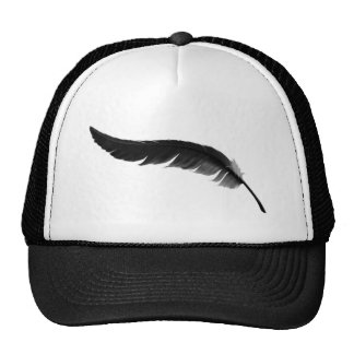 feather1 trucker hat