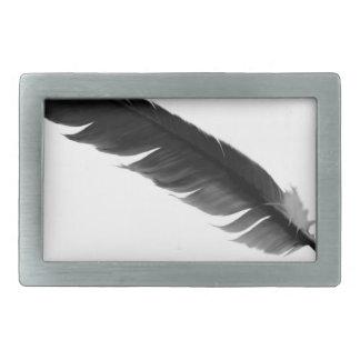 feather2 rectangular belt buckles