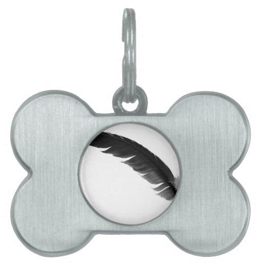 feather3 placa de mascota