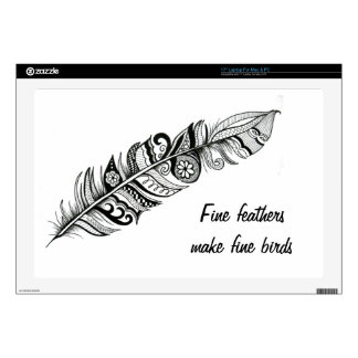 "Feather 17"" Laptop Skins"