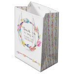 Feather and beads wedding favor bag
