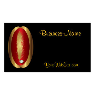 Feather and Diamond Logo Business Card