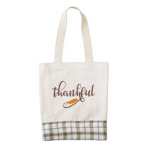 Feather Boho Native Thankful Typography Zazzle HEART Tote Bag