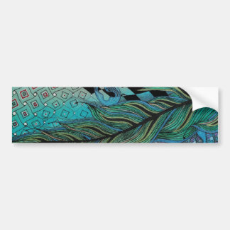 feather bumper sticker