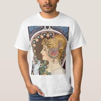 Feather by Alphonse Mucha - Vintage Art Nouveau T-Shirt