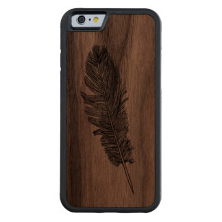 Feather Carved® Walnut iPhone 6 Bumper