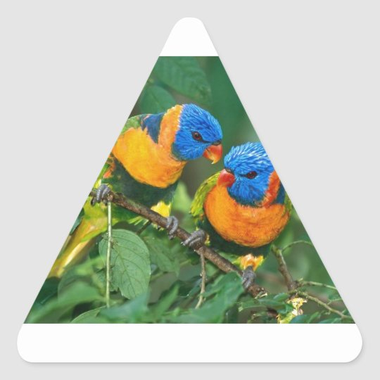 Feather Chat Triangle Sticker