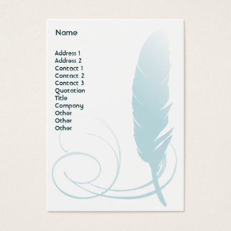 Feather - Chubby Business Card