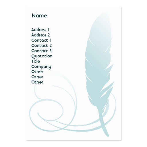 Feather - Chubby Large Business Cards (Pack Of 100)