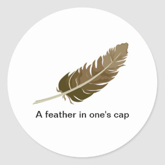 Feather Classic Round Sticker
