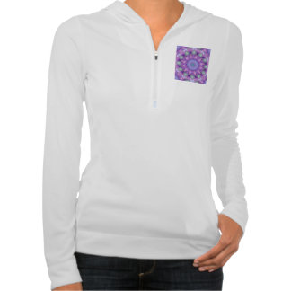 Feather Dance, Abstract Purple Orchid Lavender Hooded Sweatshirt