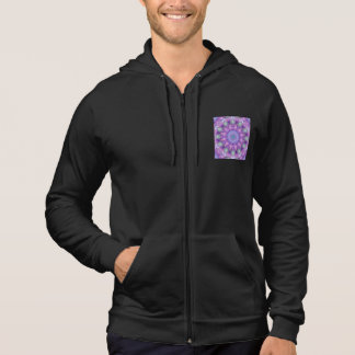 Feather Dance, Abstract Purple Orchid Lavender Hoodie