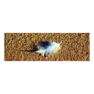 Feather Double-Sided Mini Business Cards (Pack Of 20)
