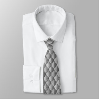 Feather Dragon Scale Armor Silver Tie