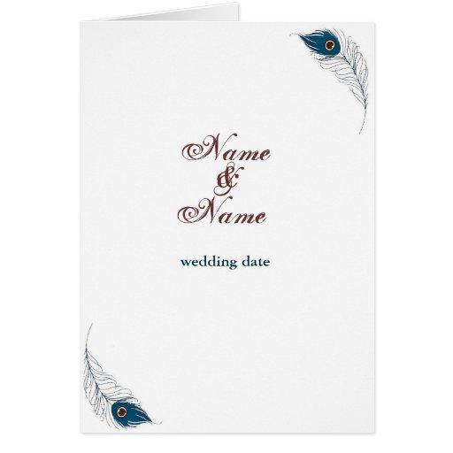 Feather Elegance Card