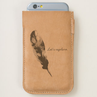 Feather etching, Let's explore, Ubuntu iPhone 6/6S Case