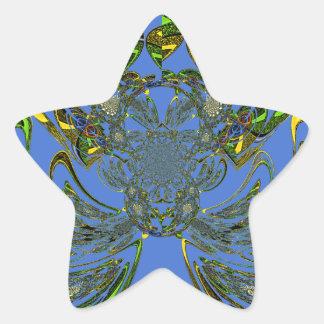 Feather Fish Star Sticker