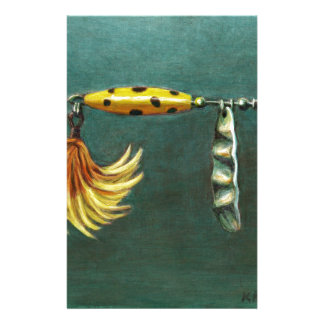 Feather Fishing Lure Stationery