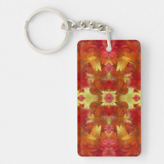 Feather Flames Keychain