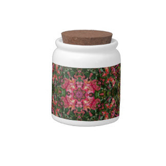 Feather Flower Fractal Candy Jar