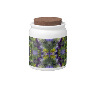Feather Flowers - Violas Candy Jar