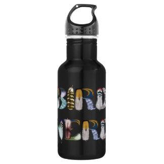 Feather Font: Bird Nerd Water Bottle