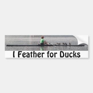 Feather For Ducks Car Bumper Sticker