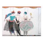 Feather French Fashion Postcard