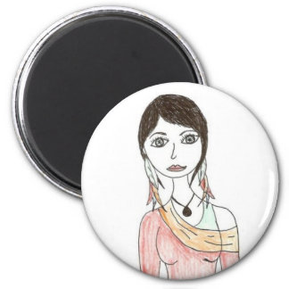 Feather Girl Magnet