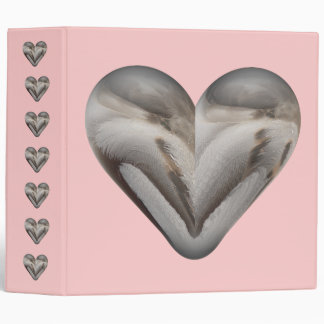 feather heart 3 ring binder