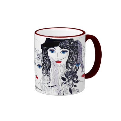 Feather in Hat Coffee Mugs