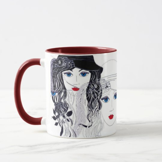 Feather in Hat Mug