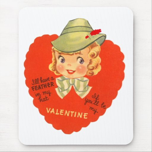 Feather in my Hat Valentine Mousepad