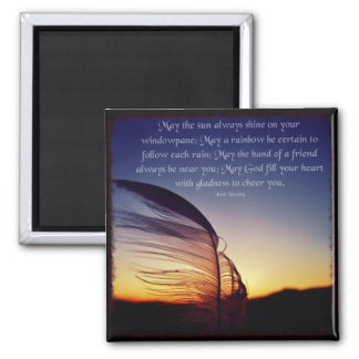 Feather in the Wind Photo Quote Magnet