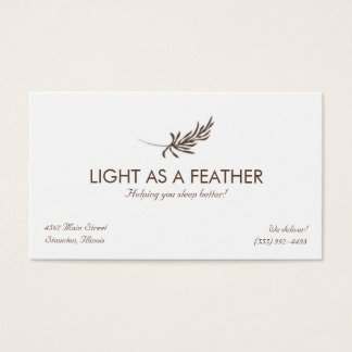 Feather Logo Design Business Card