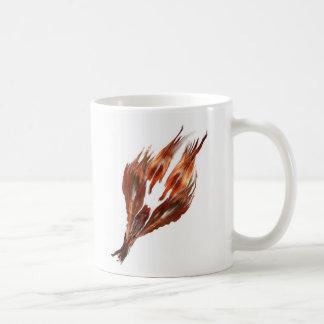 feather logo icon unique coffe mug