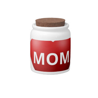 Feather Love Mom Candy Jar
